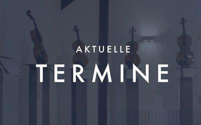 """Neue Termine """"Investition in Streichinstrumente"""" auf Schloss Bedburg"""