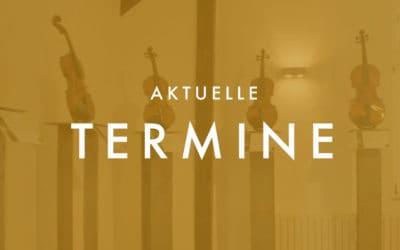 """Termine """"Investition in Streichinstrumente"""" auf Schloss Bedburg"""